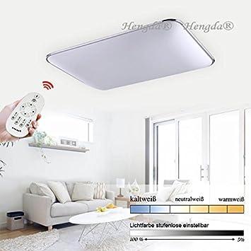Hengda® 96W LED Deckenlampe IP44 Badezimmer Geeignet Lampe Deckenleuchte  2700 6500K Dimmbar 960