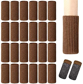 Fit Furniture Leg Girth 1-1//2 to 2-1//4 inches SACONELL Polyester Chair Leg Socks Floor Protector Elastic Wool Knit Floor Furniture Feet Covers Pads 28 Piece Coffee Furniture Socks