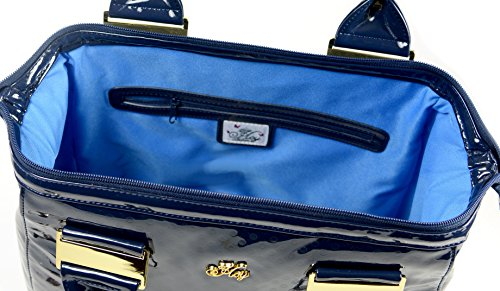 Borsa Anita - HoY Be chic - blue vernice lucida fashion bag