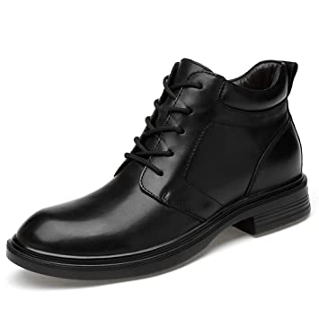 6babbc945b16 Amazon.com : HEmei Mens Ankle Boots Lace Up Genuine Leather ...