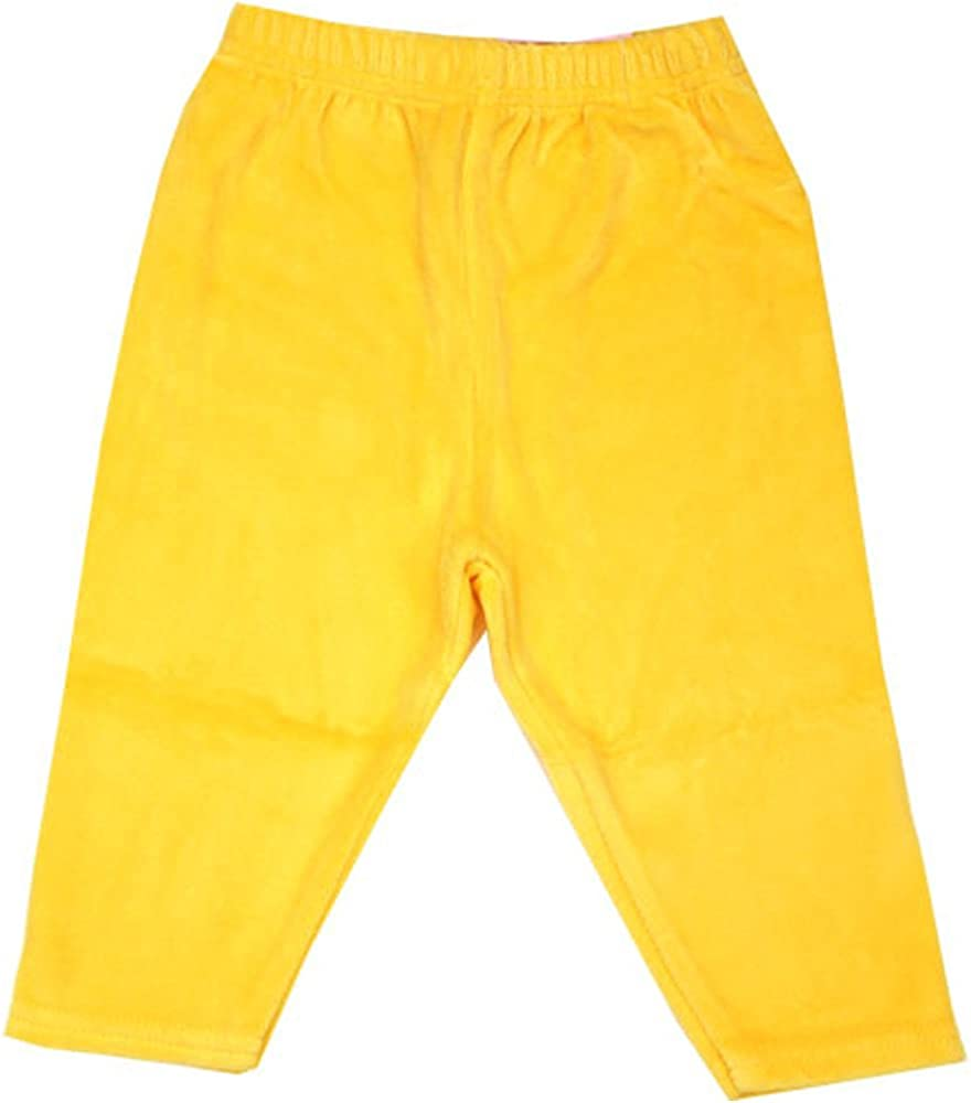 Zutano Yellow Velour Leggings 0-6 Months Unisex
