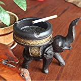 SJQKA-Ashtray Ashtray Thailand Arts And Crafts Elephant Ashtray Wood Ashtray Ashtray Desktop Decoration Decoration Small Living Room,Small