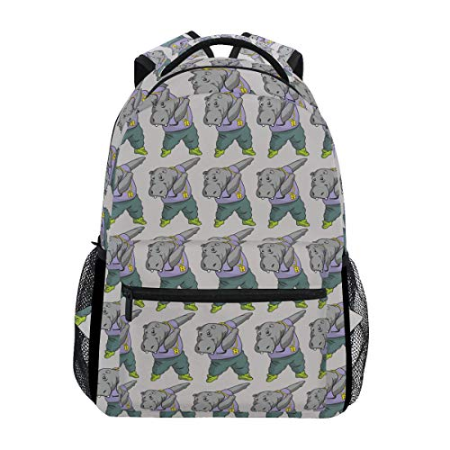 b00e5ab84144 Fashion School Backpack Dabbing Hippo Funny Animal Casual Daypack Large  College Bookbag Slim Business Backpack Classic Travel Computer Bag
