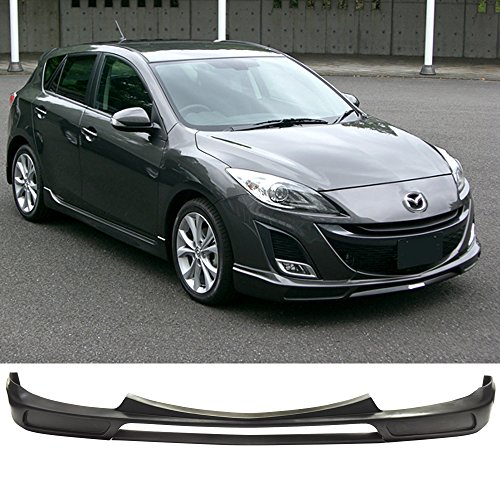 09-11 Mazda 3 Mazda3 4 Door K-Style Urethane Front Bumper Lip Spoiler (Will not fit Mazdaspeed Model)