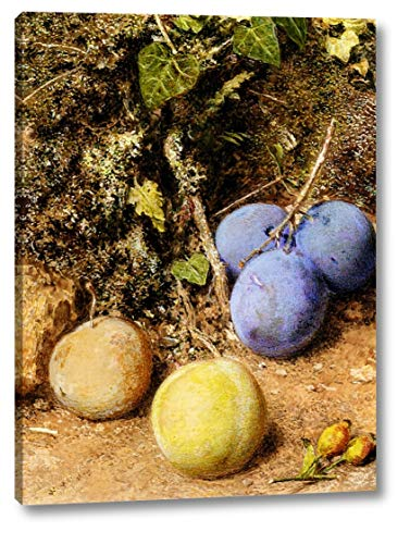 (Still Life with Greengages and Plums on a Mossy Bank by William Henry Hunt - 10