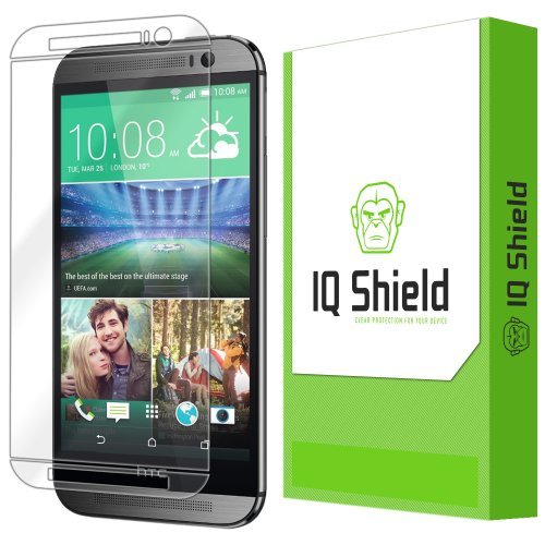 IQ Shield LiQuidSkin Full Coverage Screen Protector for HTC One M8 (AT&T,Sprint,T-Mobile,Verizon) HD Clear Anti-Bubble Film
