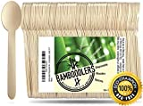 """Disposable Wooden Spoons by Bamboodlers 