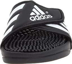 adidas Adissage Sandal (Toddler/Little Kid/Big Kid),Black/White/Black,2 M US Little Kid