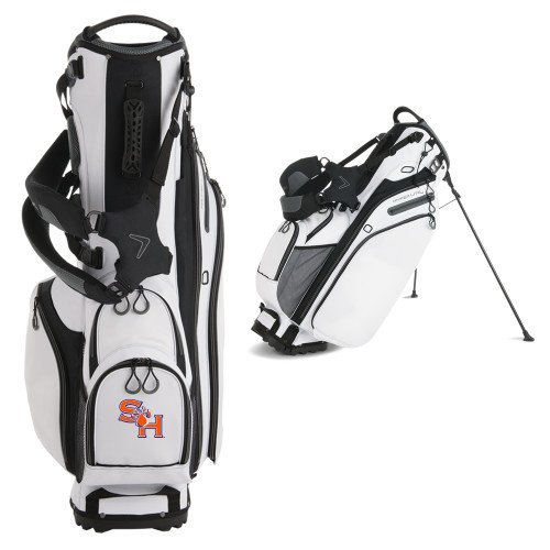 SHSU Callaway Hyper Lite 4 White Stand Bag 'SH Paw Official Logo' by CollegeFanGear