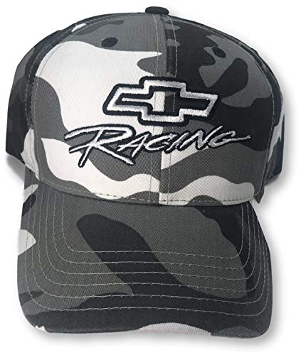 - NASCAR Chevy Racing Black & White Camo Adult Cap Hat