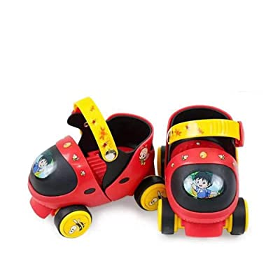 Yongqinghui Children's Roller Skates Baby Four-Wheeled Roller Skates Children's Double-Row Skates Roller Shoes Boys and Girls Adjustable Skates Beginners Roller Shoes : Sports & Outdoors
