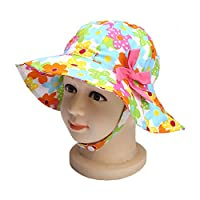 Marca west Baby Girl Sun Protection Hat Fisherman Hat Flower Beach Sun Hat Colorful