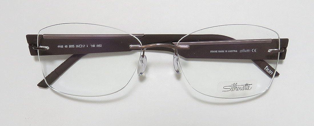 4befd4e15333 Amazon.com  Silhouette 4448 Womens Ladies Designer Rimless Titanium  Eyeglasses Eyewear (55-17-140