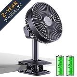 Best Clip Fans - Jesir Battery Operated Clip on Fan, Table Desk Review