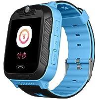 1.44 inch Touch Kids GPS Tracker Smart Watch with Camera SIM Calls Anti-lost SOS Wrist Watch Smart Bracelet for Children Girls Boys Finder Safety Monitor Flashlight