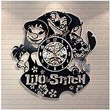 レコード盤壁掛け時計 リロ・アンド・スティッチ ディズニー 映画 アニメ 人気 おしゃれ インテリア