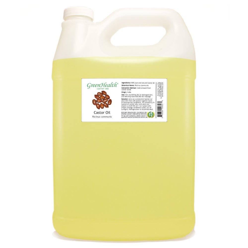 GreenHealth Castor - 1 Gallon Plastic Jug w/Cap - 100% Pure Carrier Oil by GreenHealth