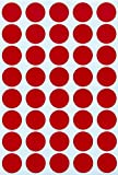 bright colored chart paper - Round Labels colored Sticker Dots 19mm 3/4 inch - Red - 280 Pack by Royal Green