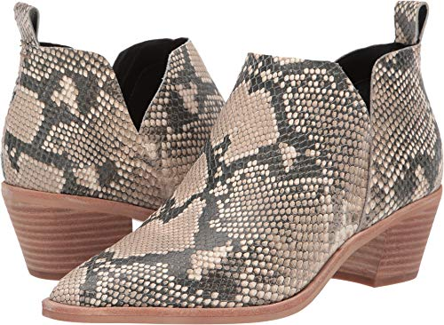 Price comparison product image Dolce Vita Women's Sonni Ankle Boot,  Snake Print Embossed Leather,  8.5 M US