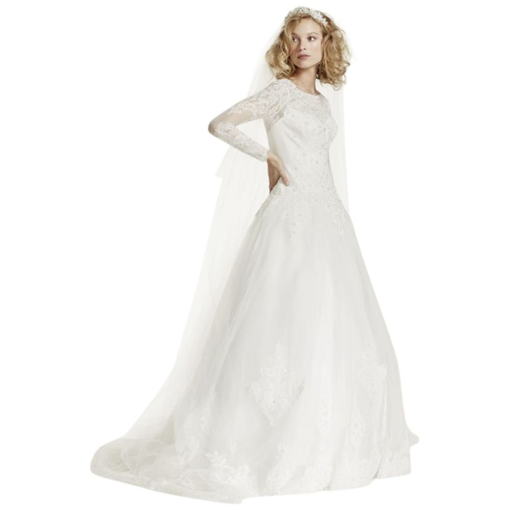 Embroidered Cathedral Length Veil Style WPD14215, Ivory