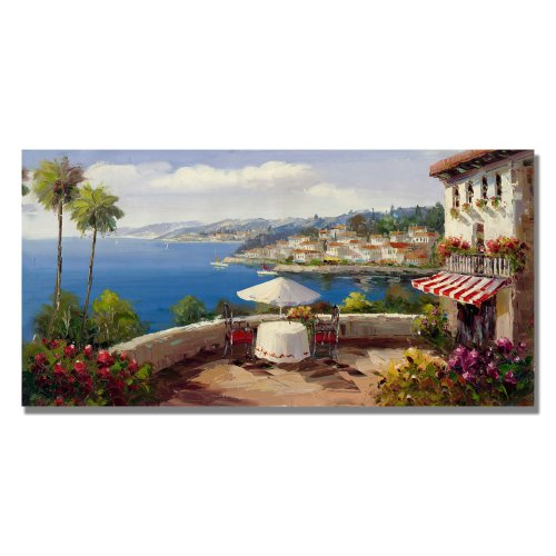 Italian Afterernoon by Master's Art, 24x47-Inch Canvas Wall Art