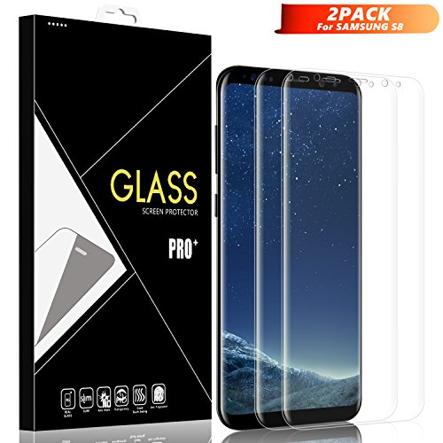Loisa Galaxy S8 Screen Protector [2 Pack], Full Coverage 3D PET Soft TPU Premium Screen Film with Lifetime Replacement Warranty for Samsung Galaxy S8