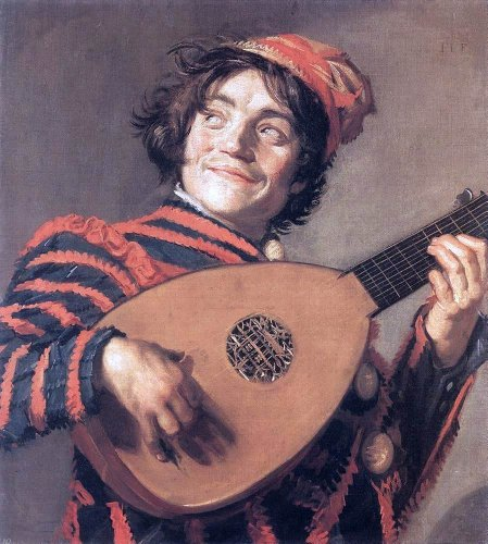 Frans Hals Buffoon Playing a Lute - 20.05