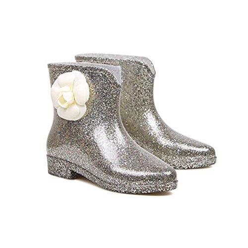 On Rain Boots Ladies HUAN Non Shoes Slip Low Ladies Water G PVC Glitter Boots Women's Slip BAzAdnqw