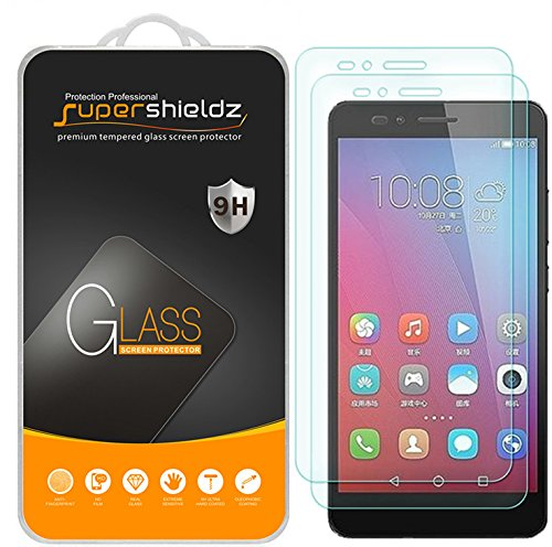 Supershieldz [2-Pack] for Huawei Honor 5X Tempered Glass Screen Protector, Anti-Scratch, Anti-Fingerprint, Bubble Free, Lifetime Replacement