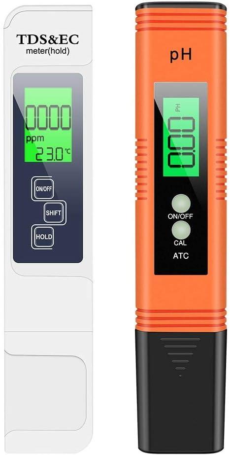 Medidor PH,Linkax Digital de Mano PH Tester,Medidor TDS EC Temperatura 4 en 1 Digital,Medidor de Prueba de Calidad para Acuarios, Agua Potable, Jardín, Piscina
