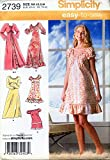 Simplicity 2739 ©2008 Misses Nightgown in Three Lengths, Pajamas and Robe; Size AA (XS, S, M)