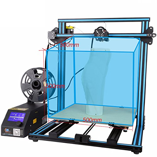 The classical hot sale Creality Cr-10 3D printer large printing size 500~500~500 mm high precision easy to assemble DIY Kit Prusa I3 Metal Frame linear guide rail for xyz axis