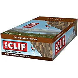 CLIF BAR - Energy Bar - Chocolate Brownie - (2.4 Ounce Protein Bar, 12 Count)