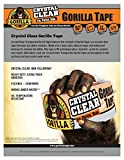 Gorilla 6060002 Crystal Clear Tape 18YD