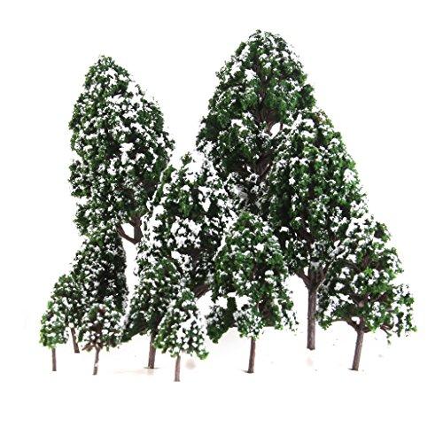 12pcs 1:50 Train Scenery Landscape Model Trees (Green) - 5