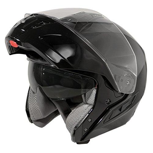Hawk ST 11121 8GB FX Glossy Black Modular Helmet - Small (Glossy Dial Black)