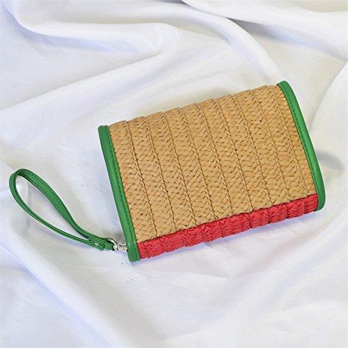 Straw Women Plaited YSMYWM Clutch Purse Handbags Fruit Watermelon Beach Bag wvxtP