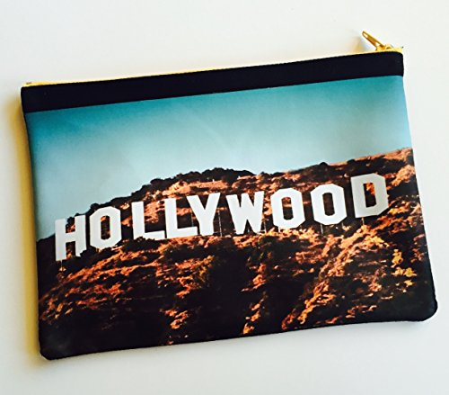 Hollywood Sign Pencil Case/Pouch (multipurpose) 8 in.x 5.5 in. by Lanas&Co.