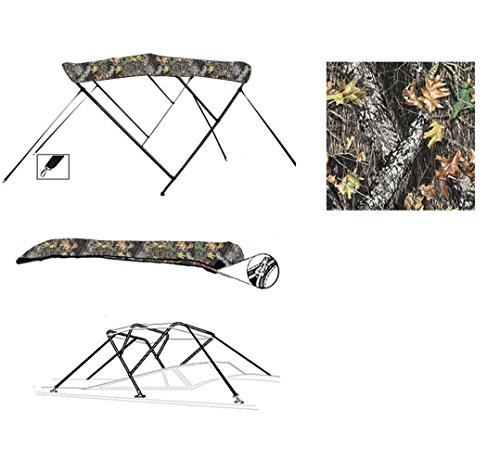 8oz 3 Bow Camouflage Mossy Oak Break UP CAMO Boat Bimini TOP Sunshade for SEA RAY 210 SUNDECK W/SWPF 2008-2009 (Sea Ray 210 Sundeck)