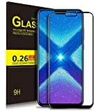 Huawei Honor 8X Screen Protector, Honor 8X Screen Protector, KuGi 9H Hardness HD Clear Tempered Glass Screen Protector for Huawei Honor 8X Smartphone(Black)