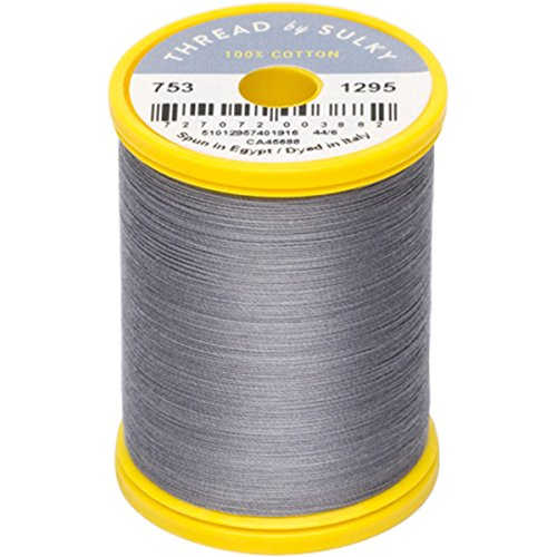 Sulky 753-1295 Cotton & Steel Thread 50wt 660yd-Sterling