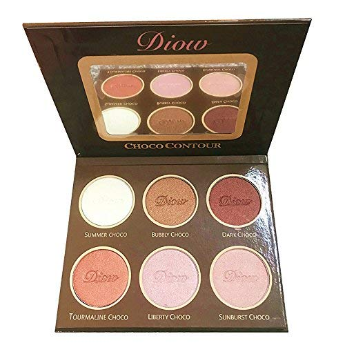 - Diow Choco Face Contour Bronze Makeup Highlighter Powder Makeup Palette Kit