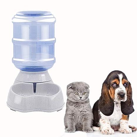 Ayuboom - Dispensador de Comida automático para Mascotas, comedero y dispensador de Agua, Recipiente