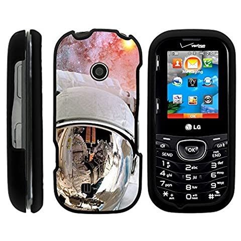 LG Cosmos 3 VN251S Cover, Snap On Full Body Armor Hard Protector Case Galactic Designs Series LG Cosmos 3 VN251S and LG Cosmos 2 by Miniturtle - Astronaut in (Cell Phone Cases Lg Cosmos 3)