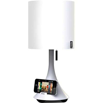 Wonderful IHome Table Lamp With Speaker For IPod, IPhone, And IPad (White)