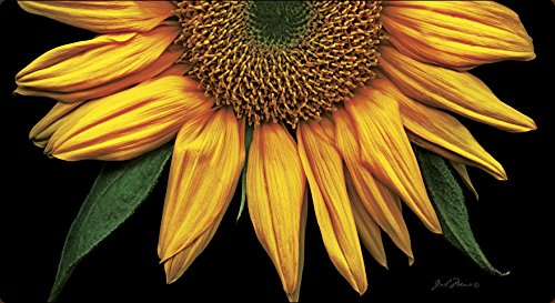 Toland Home Garden Sunflowers on Black 20 x 38-Inch Decorative USA-Produced Anti-Fatigue Soft-Step Kitchen/Bathroom/Standing Desk Comfort Designer Mat