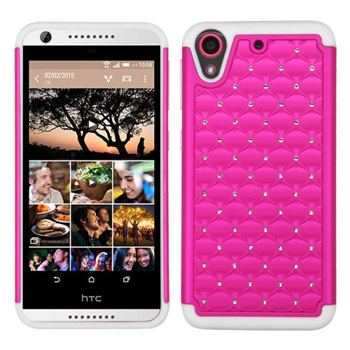 Asmyna Phone Case for HTC Desire 626 - Retail Packaging - Pink/White