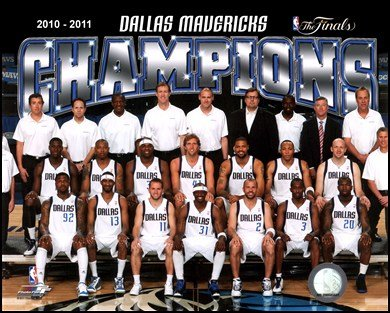 The Dallas Mavericks 2011 NBA Finals Championship Team Photo(#48) Art Poster PRINT Unknown 10x8