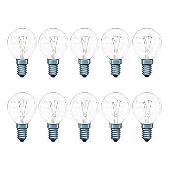 Glühbirne E14-25 x 25 Watt Tropfen Lampe klar Glühlampen 25W