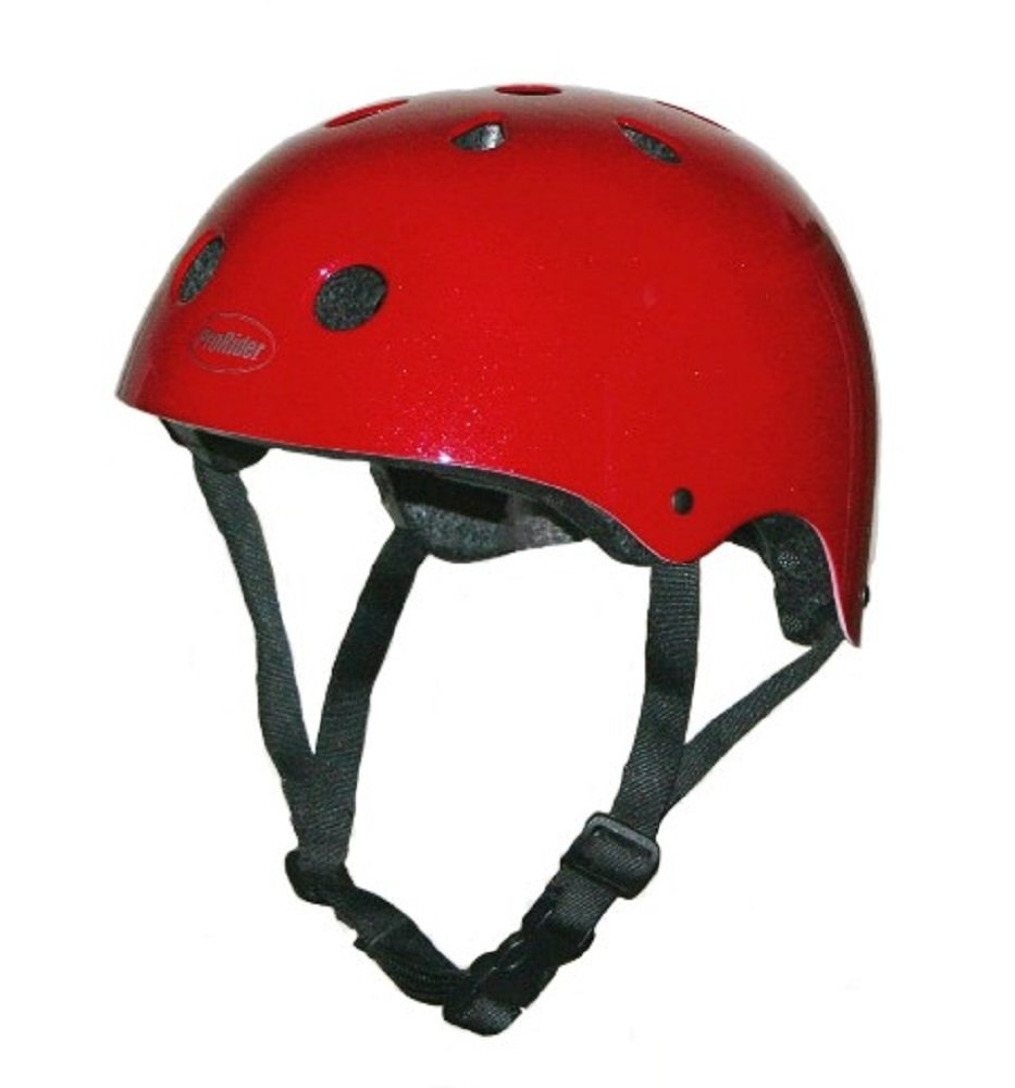 Pro-Rider Classic Bike & Skate Helmet (Red, Small/Medium)
